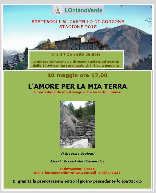 L'Amore per la mia Terra al Castello di Gorzone Darfo Boario Terme