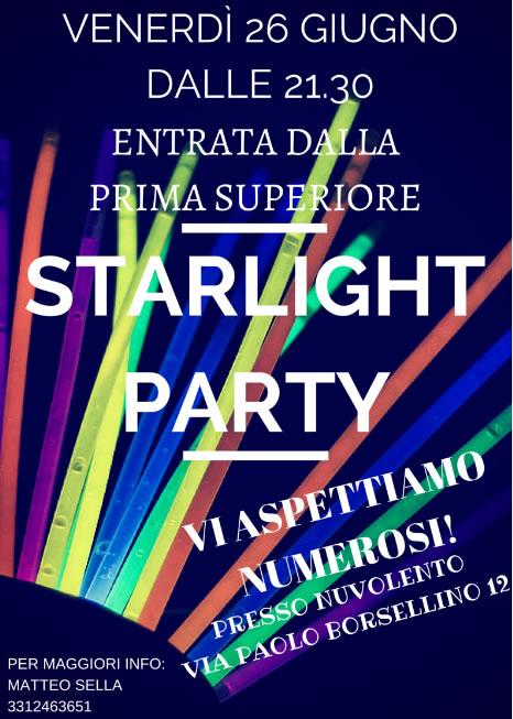 Starlight Party a Nuvolento