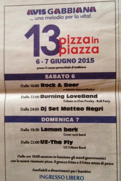 13 Pizza in Piazza a Gabbiana MN