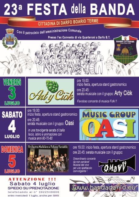 23 Festa della Banda a Darfo BT