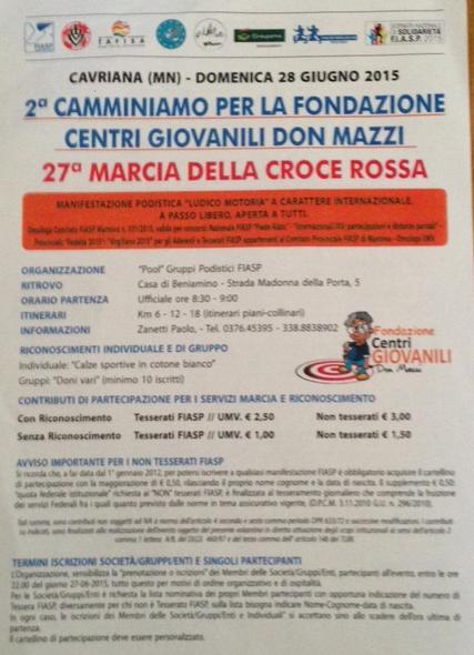 27 Marcia della Croce Rossa a Cavriana MN