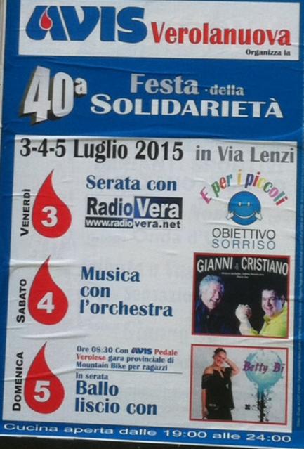 40 Festa della Solidarietà a Verolanuova