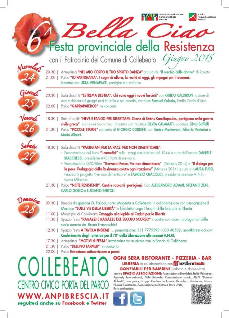 6° Bella Ciao fest a Collebeato Bs