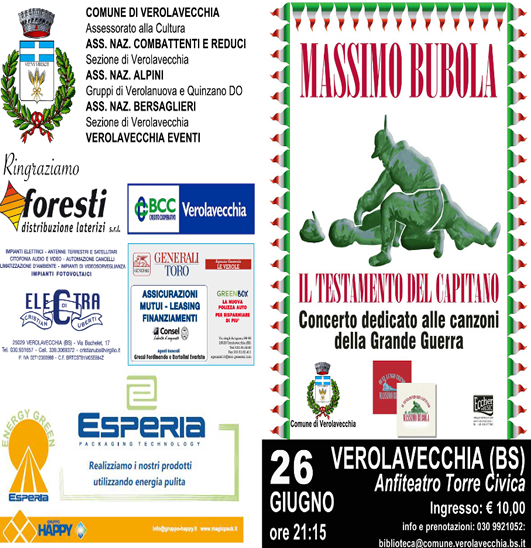 Concerto Massimo Bubola a Verolavecchia