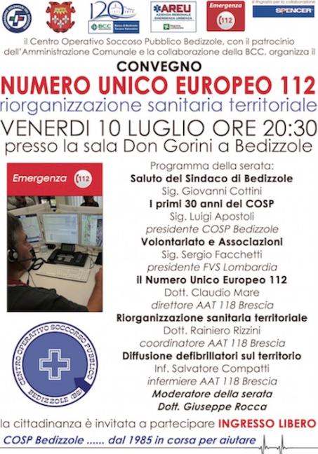Convegno numero unico europeo 112 a Bedizzole