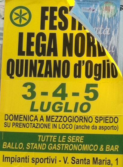 Festa Lega Nord a Quinzano d'Oglio