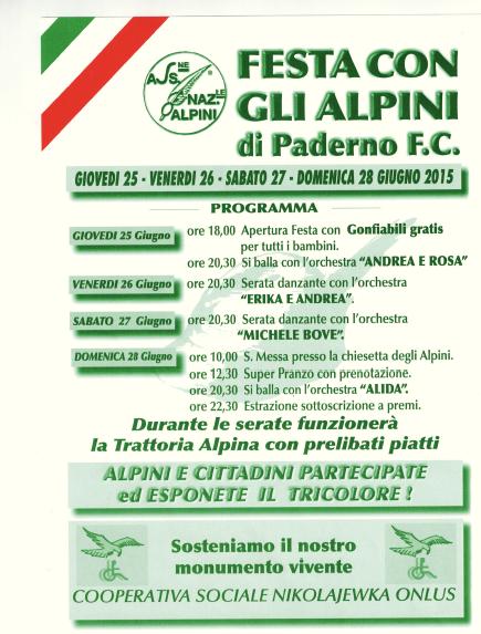 Festa con gli Alpini di Paderno Franciacorta