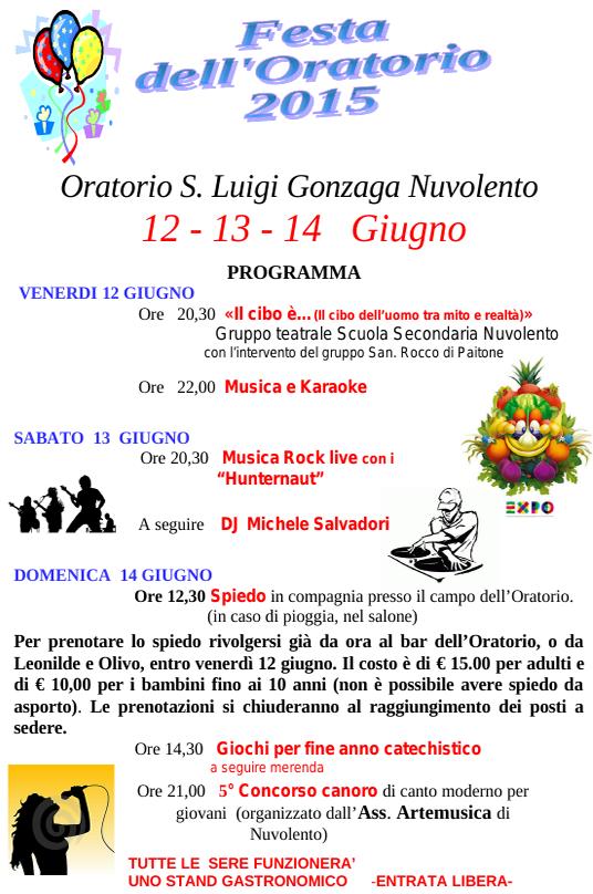 Festa dell'Oratorio 2015 a Nuvolento
