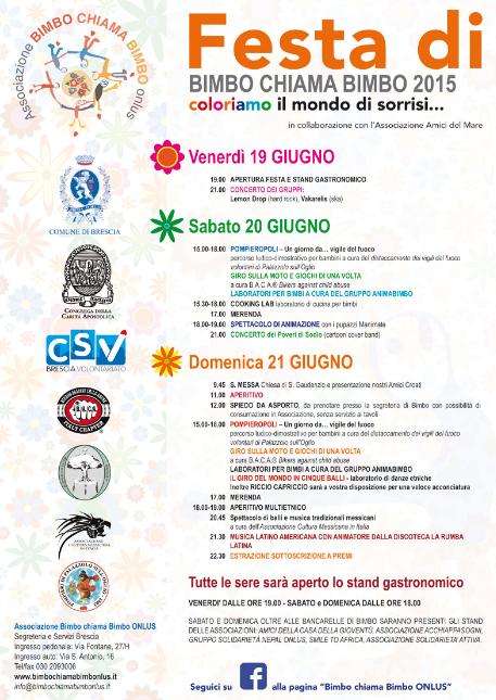 Festa di Bimbo Chiama Bimbo 2015 a Brescia