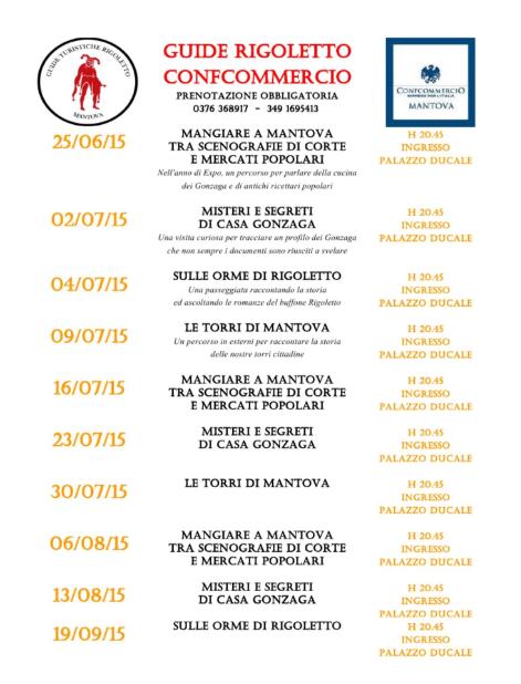 Guide Rigoletto ConfCommercio a Mantova