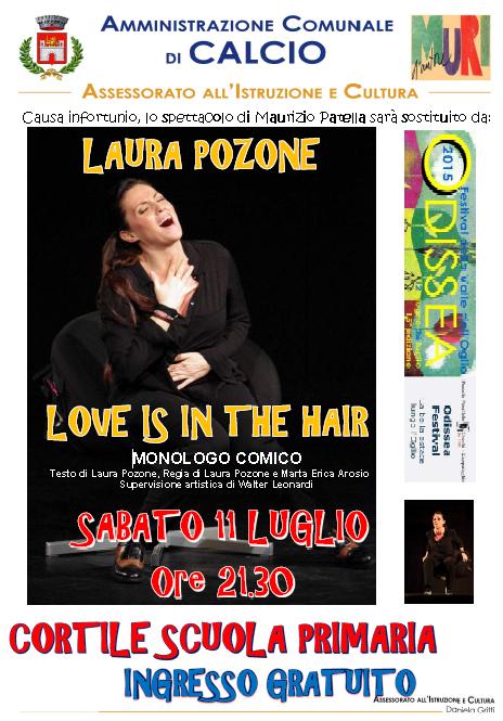 LOVE IS IN THE HAIR Spettacolo comico a Calcio (BG)