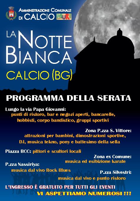 La Notte Bianca a Calcio BG