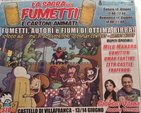 La Sagra dei Fumetti a Villafranca VR