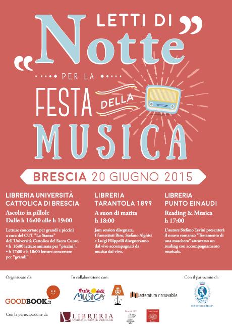 Letti di Notte per la Festa della Musica a Brescia