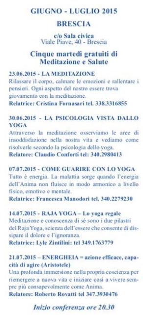 Meditazione e Salute a Brescia