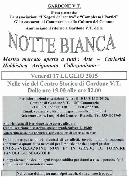 Notte Bianca 2015 a Gardone VT