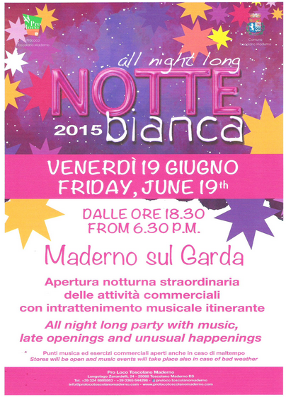 Notte Bianca 2015 a Toscolano Maderno