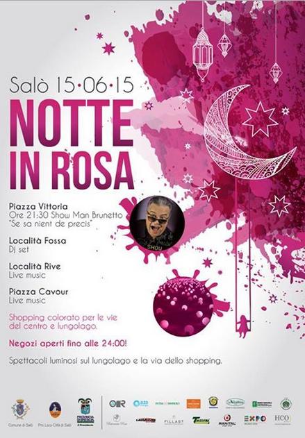 Notte in Rosa 2015 a Salò