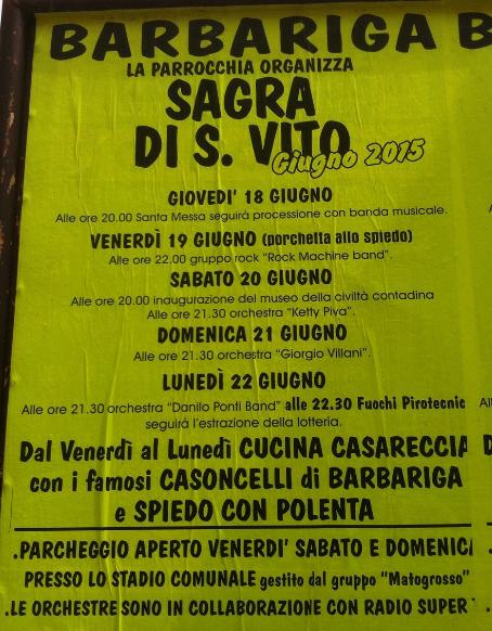Sagra di San Vito 2015 a Barbariga