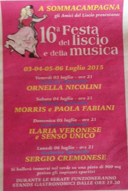16 Festa del Liscio e della Musica a Sommacampagna VR