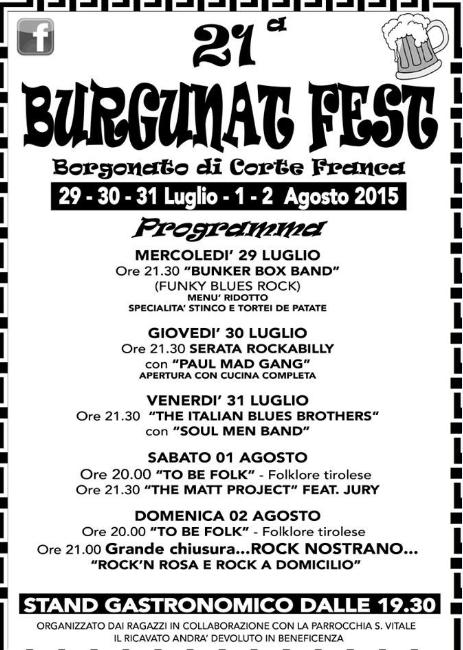 21 BurgunatFest a Borgonato di Corte Franca