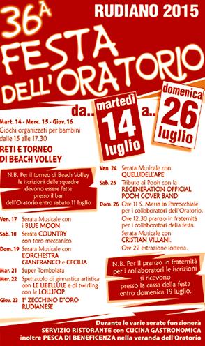 36 Festa dell'Oratorio a Rudiano