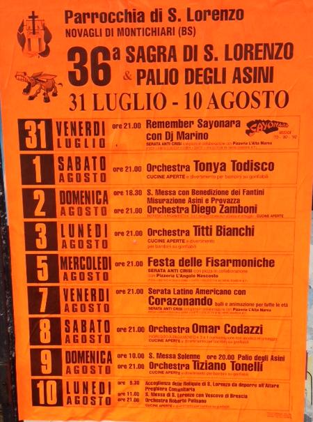 36 Sagra di S. Lorenzo e Palio degli Asini a Novagli di Montichiari