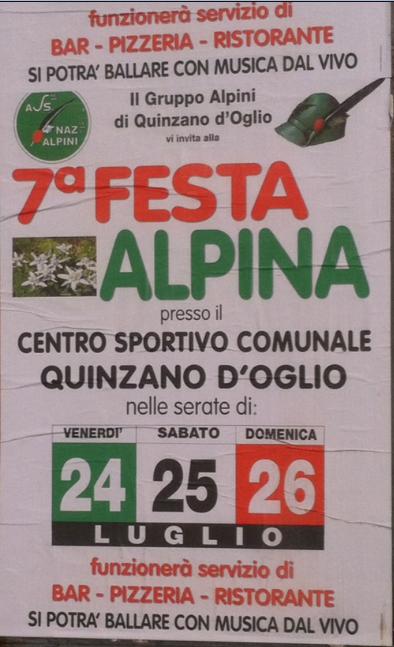 7 Festa Alpina a Quinzano D'Oglio