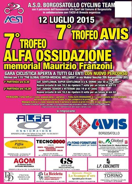 7 Trofeo Ciclistico Alfa Ossidazione a Borgosatollo