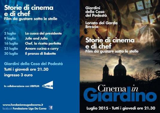 Cinema in Giardino a Lonato del Garda