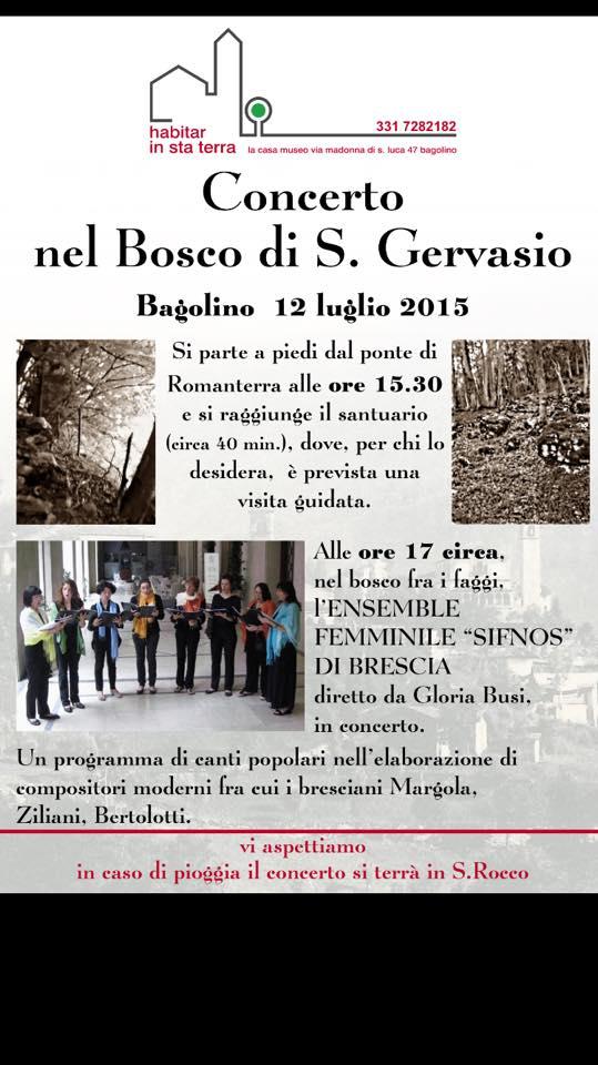 Concerto nel Bosco a Bagolino Bs