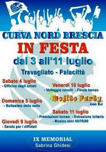 Curva Nord Brescia in Festa