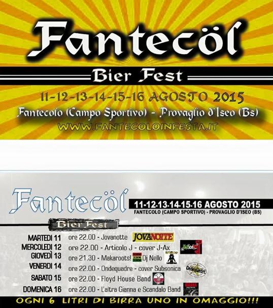 Fantecol Bier Fest 2015 a Provaglio d'Iseo