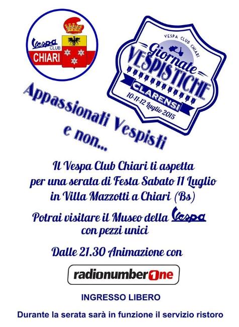 Festa Vespa Club a Chiari