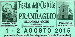 Festa dell'Ospite 2015 a Prandaglio di Villanuova