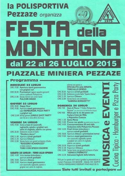 Festa della Montagna 2015 a Pezzaze