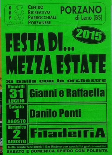 Festa di Mezza Estate 2015 a Porzano di Leno