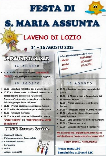 Festa di S.Maria Assunta a Laveno di Lozio