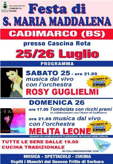 Festa di S.Maria Maddalena a Cadimarco