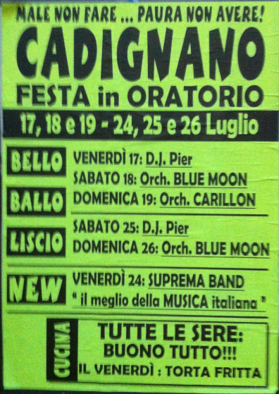 Festa in Oratorio a Cadignano
