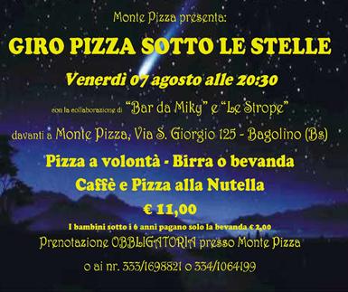 Giro Pizza Sotto le Stelle a Bagolino