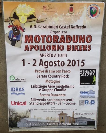 Motoraduno Apollonio Bikers  a Castelgoffredo MN