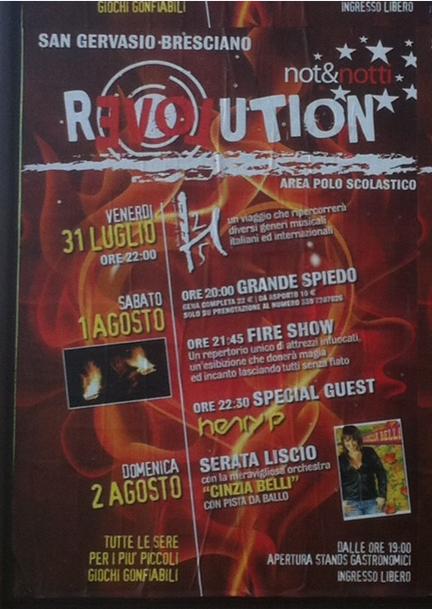 Revolution 2015 a San Gervasio