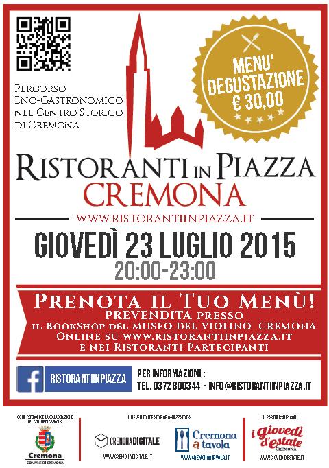 Ristoranti in Piazza a Cremona