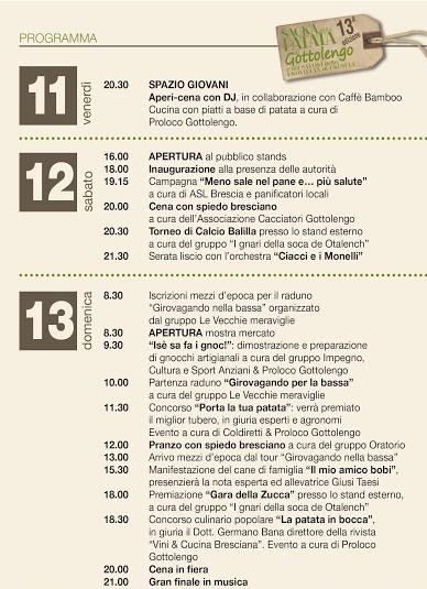 Sagra della Patata a Gottolengo 2015