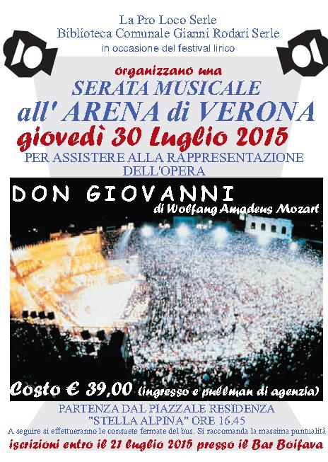 Serata Musicale all'Arena di Verona