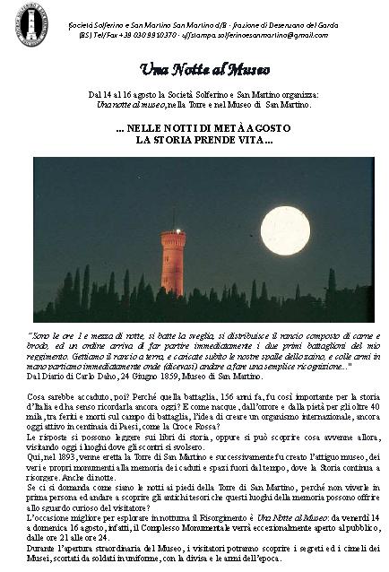 Una Notte al Museo  San Martino della Battaglia