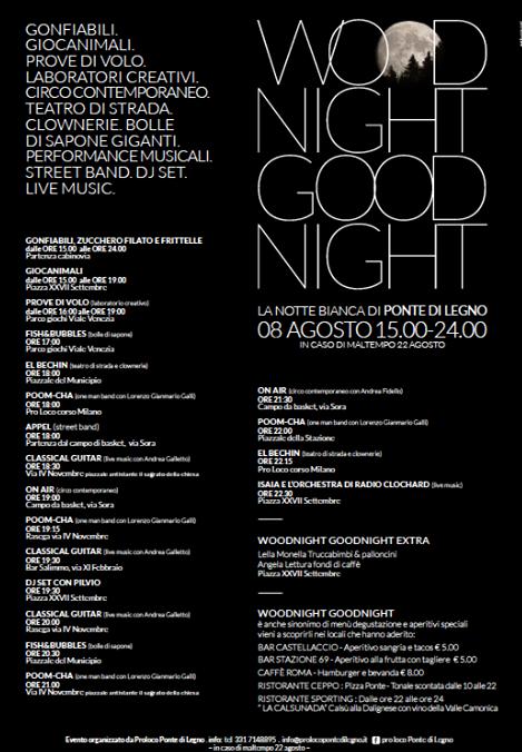 Wood Night Good Night a Ponte di Legno