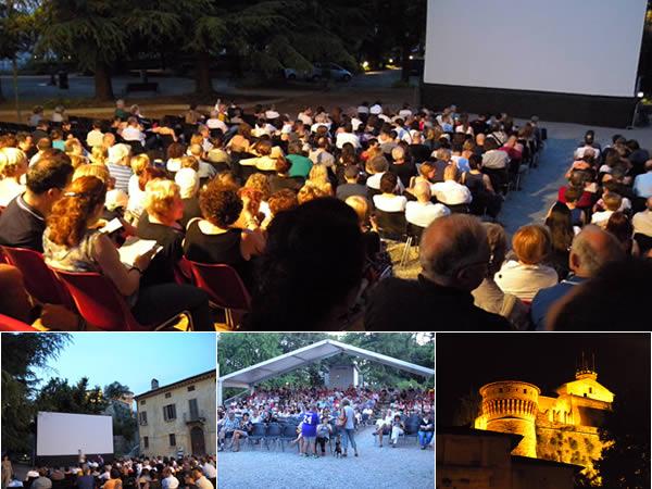 Cinema all'aperto presso l'area in castello a Brescia