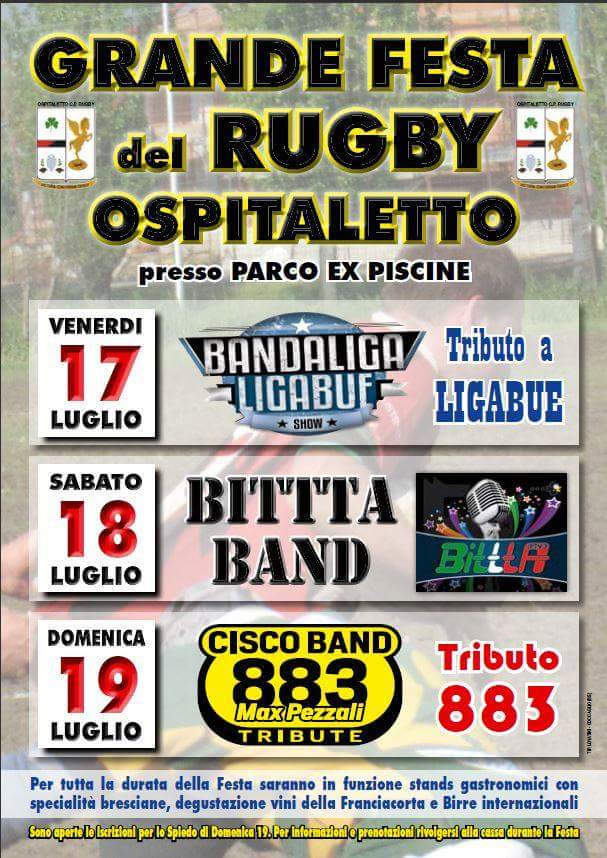 festa del Rugby a Ospitaletto